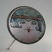 Art Deco Flapper Girl Hatpin