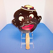 Black Man Character Vintage Hand Fan