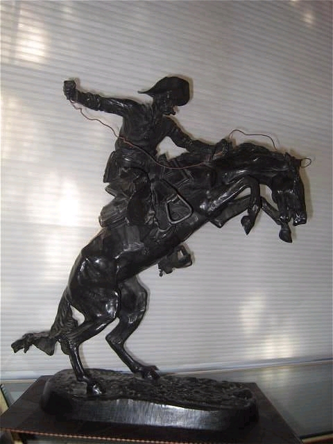 "Bronze ""Broncho Buster"" Sculpture by Frederick Remington"
