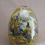 Oriental Satsuma Decorative Egg from China