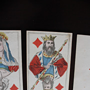 Antique Playing Cards Unknown manufacturer 1800's