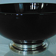 Porcelain Bowl with Silver Base