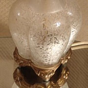 Unique Glass Bottom Boudoir or Table Lamp