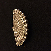 Vintage silver fan brooch makers H.W WHAT DATE IS THIS?