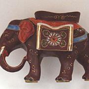 Vintage Satsuma Elephant Figurine: Asian - Oriental Style