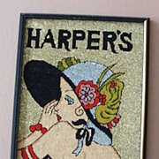 "Vintage Wall Hanging: Repro of Lady on ""Harper's"" Cover"