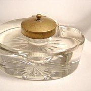 Antique Glass Ink Well