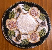 Beautiful hand-woven/embroidered linen/silk floral doiley