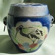 Oriental Ceramic Pot with Side Rings