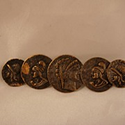 Art Nouveau Roman Brooch