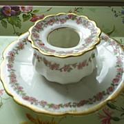 Limoges, CFH,GDM Fine Porcelain Bowl/Attached Plate