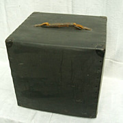 Mystery Black Storage Box With Leather Handle
