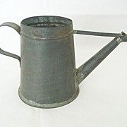 Hand-Crafted Black Tin Watering Can?