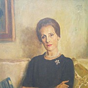 Serge Ivanoff (1893-1983) Portrait of an American Lady