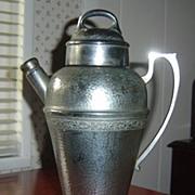 Vintage Hammered Nickel Silver Cocktail Shaker