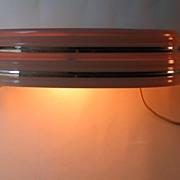 Vintage Art Deco Headboard Lamp Bed Light Pink & Chrome Metal