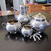 Antique Sterling Silver Tea & Coffee Set