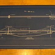Original Blue Print of Golden Gate Bridge