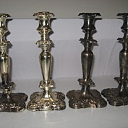 Silver candle holders sticks, tea pots, creamers sugars etc ???