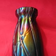 Vase, carnival glass, artist ?????????