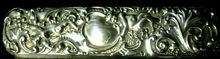 Antique Sterling Silver Art Nouveau Brush High Repousse Cupids