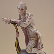 Porcelain Figurine of a Man with Unknown Mark