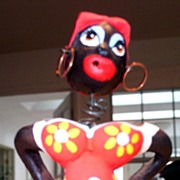 Black Americana Female Bobble head