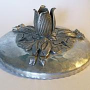 Metal Hammered Candleholder