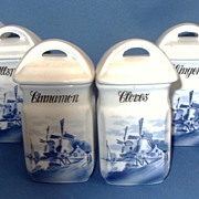 Delft German made spice canisters
