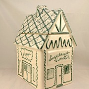 Gingerbread Junction Cookie Jar Hull Oven Proof / Western Stoneware
