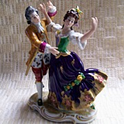German porcelain figurine -woman and man dancing