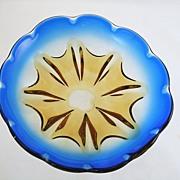 Vintage Art Glass Scalloped Bowl