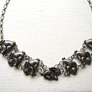 Arts & Crafts Sterling Silver Rabbit Necklace