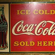 """Coca Cola Sign - 20""""x28"""""""