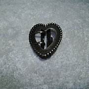 Vintage Sterling Heart Shaped Buckle