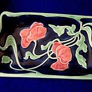 Early Majolica  Porcelain Dresser Tray