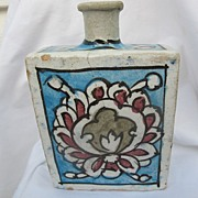 Whisky bottle with hand painted designs