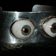 Dali Signed Modernist Art Bracelet With Eyeballs