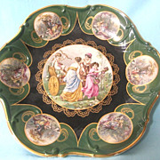 Large Picturesque Bowl Mitterteich, Bavaria Made In Germany