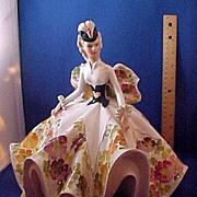 Large Lady Figurine Full Skirt.