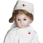 Paper Mache' Nurse Doll with bisque head