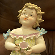 "14"" Candsrea baby with tea cup"