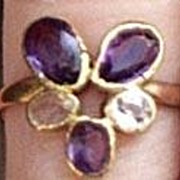 Amethyst and Crystal Ring, Victorian