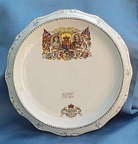 George V and Queen Mary Silver Jubilee Cake Plate, 1935