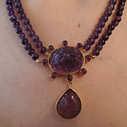 Amethyst Necklace, 15 ct, Edwardian