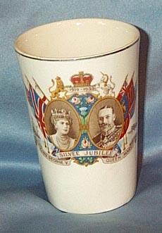 George V and Mary Silver Jubilee Beaker