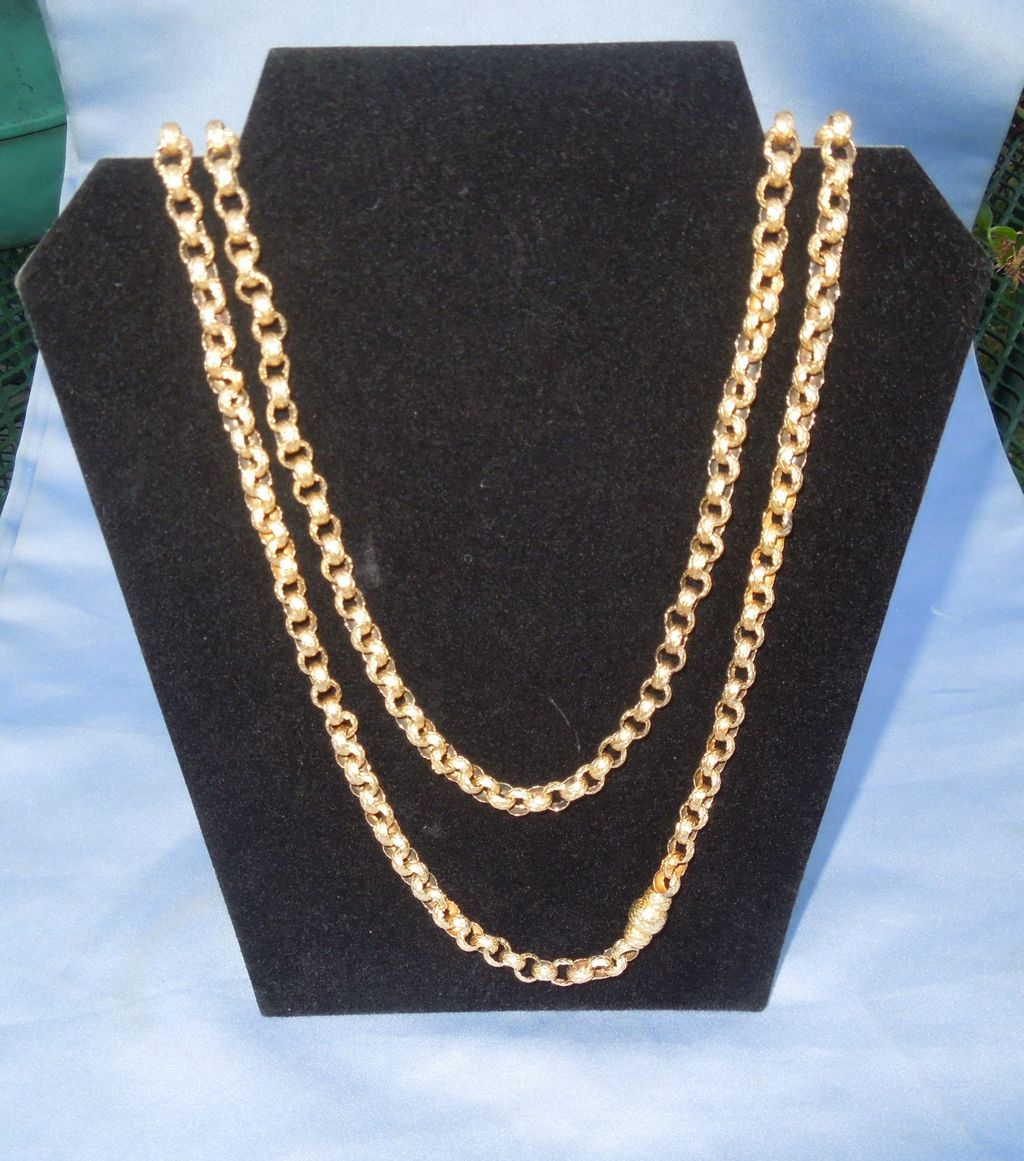 Georgian Longuard Chain, 14 carat, 45 inches long