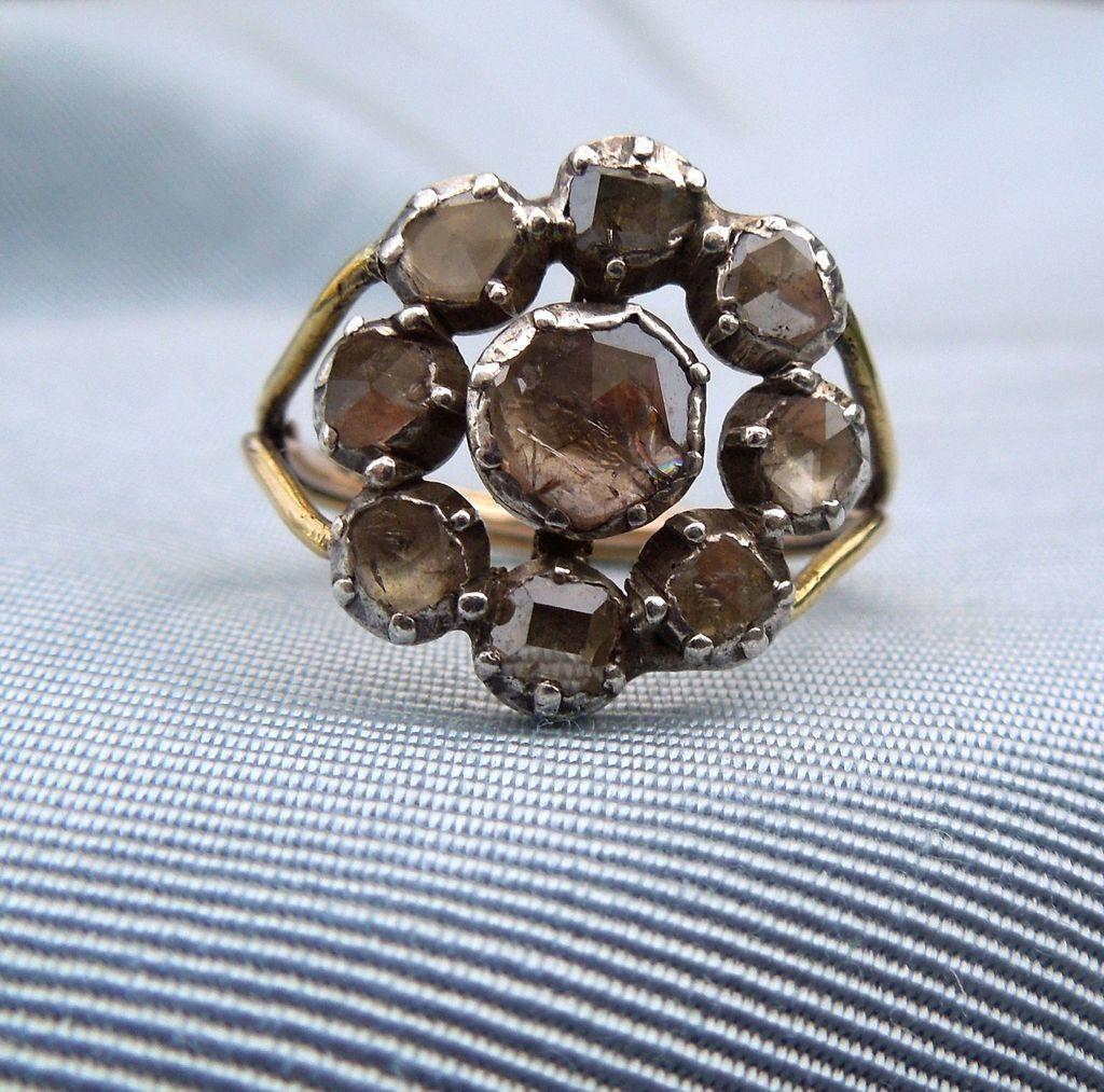 Rosecut Diamond Ring, Georgian