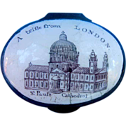 Billston or  Battersea Enamel Box, Georgian, London Souvenir