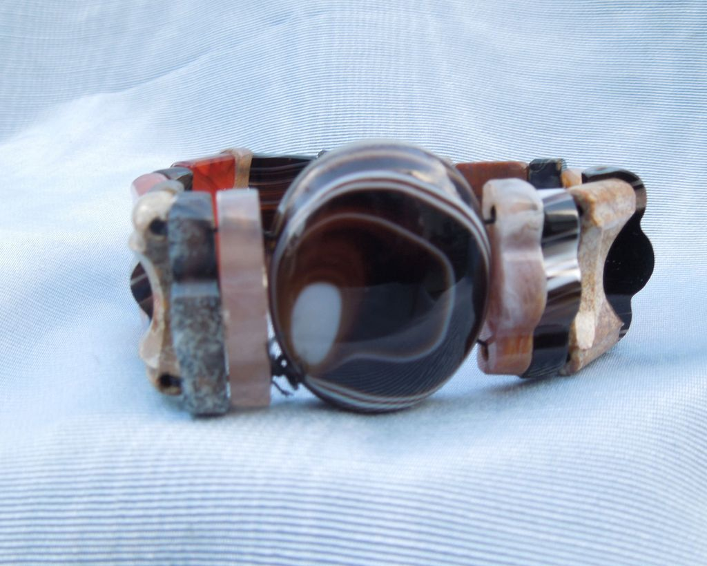 Agate Expansion Bracelet, Victorian